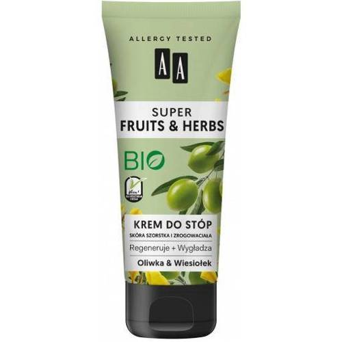 AA Super Fruits & Herbs krem do stóp Oliwka i Wiesiołek 75ml